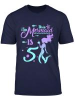 Kids 5 Years Old 5Th Birthday Mermaid Shirt Girl Daughter Gift Pa