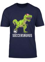 Soccer Fans Kids Gift T Rex Dinosaur Football Player Boys T Shirt
