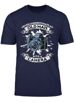 Never Underestimate An Old Man With A Camera Tshirt