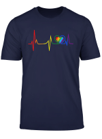 Lgbt Rainbow Heartbeat T Shirt Gay And Lesbian Pride