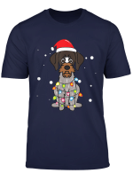 German Wirehaired Pointer Christmas Mom Dad Dog Gift T Shirt