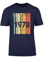 Vintage Retro Made In 1978 Original 42Nd Birthday Gift T Shirt