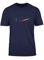 Regenbogen Herzlinie Ekg Lgbt Herzschlag Klarinette T Shirt