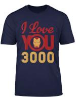 Marvel Avengers Endgame Iron Man I Love You 3000 Helmet Logo T Shirt
