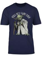 Star Wars Yoda Best Aunt Ever Portrait T Shirt