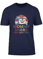 Retro Vintage Mommy Sharks Tshirt Gift For Womens