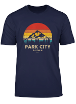 Park City Utah Ski Winter Sports Vintage Souvenir Skier T Shirt