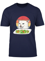 Angry Women Yelling At Confused Cat At Dinner Table Meme T Shirt