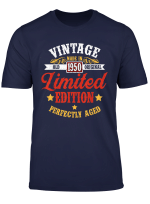 Vintage Made In 1950 Limited Edition 69Th Birthday Gift T Shirt