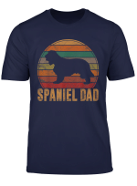 Retro Spaniel Dad Gift Dog Owner Pet English Cocker Father T Shirt
