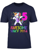 Kids 5 Years Old 5Th Birthday Unicorn Shirt Girl Daughter Gift Pa