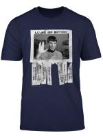 Star Trek The Original Series Logic Of Spock Text Poster T Shirt
