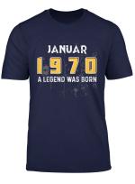 Januar 1970 50 Geburtstag 50 Jahre Eine Legende T Shirt