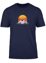 Mountain Sunset Funny Hiking Gifts T Shirt