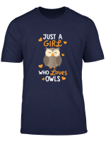 Just A Girl Who Loves Owls Tshirt Cute Owl Lover Gifts T Shirt