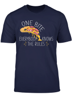 One Bite Everybody Knows The Rules Pizza Lover Gift Shirt
