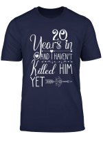 20 Years Wedding Anniversary Gift Idea For Her And Wife T Shirt