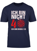40 Geburtstag Geschenk Mann Lustiger Dart Spruch Double 20 T Shirt