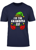 Grandma Elf Matching Family Group Christmas Party Pajama T Shirt