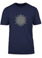 64 Tetraeder 2D Heilige Geometrie T Shirt