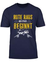 Rute Raus Der Spass Beginnt Angler Angeln Fisch Xmas Geschenk T Shirt