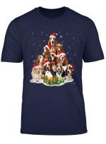 Funny Basset Hound Christmas Pajama Dog Lover Xmas Tree Gift T Shirt