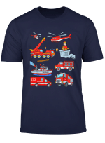 Feuerwehr Tshirt Kinder Mit Loschzug Loschboot Feuerwehrmann