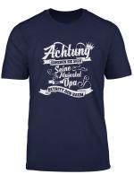 Herren Opa Seine Majestat Der Grossvater Geschenk Enkel T Shirt