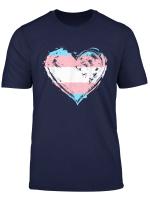 Transgender Pride Heart Flag T Shirt