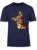 Portrait Eines Deutschen Schaferhund Hund Shirt T Shirt