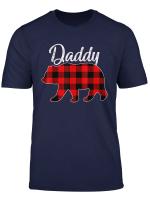 Daddy Bear Men Red Plaid Christmas Pajama Family Dad Gift T Shirt