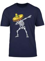 Cinco De Mayo Dabbing Skeleton Youth Apparel Skull Dab Boys T Shirt