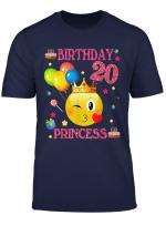 T Shirt Zum 20 Birthday Princess Geburtstag 20 Jahr Old