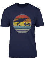 T Rex Chasing Jeeps 4X4 Retro Vintage Dinosaur Lovers Gift T Shirt
