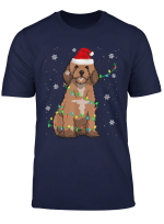Cockapoo Christmas Light Cute Santa Cockapoo Xmas Pajama T Shirt
