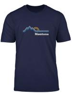 Retro Montana T Shirt Vintage Sunrise Mountains Tee Design