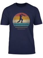 Retro Vintage Sunset Old School Cricket Sport Funny Gift T Shirt