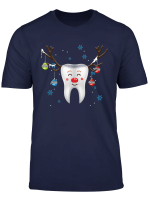 Antlers Red Nose Holiday Tooth Reindeer T Shirt Funny Gifts T Shirt