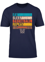 Eat Sleep Basketball Repeat Basketball Youths Kids Gifts T Shirt