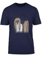 Womens Shih Tzu Mama Dog Illustration Quote Proud Shihtzu Gift T Shirt