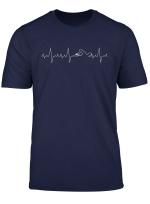 Herzschlag Herzfrequenz Herzlinie Schwimmer T Shirt Swimming