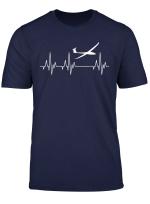 Segelfliegen Segelflieger Fliegen Flieger Herzschlag T Shirt