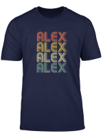 Alex 70S Style Retro Girls Boys Personalised First Name T Shirt