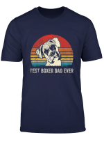Mens Vintage Best Boxer Dad Ever Daddy Gifts Dog Dad Father T Shirt