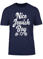 Nice Jewish Boy Ugly Hanukkah Sweater Chanukah Jew Kids Gift T Shirt