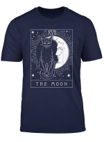 Tarot Card Crescent Moon And Cat Graphic T Shirt