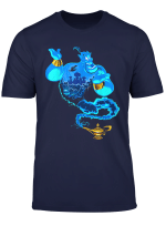 Disney Aladdin Genie Coming Out Of Lamp Portrait T Shirt