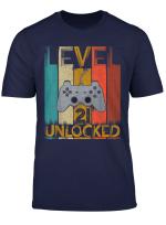 Video Gamer 21St Birthday Shirt Gamer Men Women 21 Years Old T Shirt