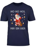 Herren Ho Ho Hol Mir Ein Bier Weihnachtsmann Mit Bier T Shirt