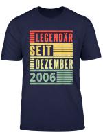 Legendar Seit Dezember 2006 13 Geburtstag Vintage T Shirt